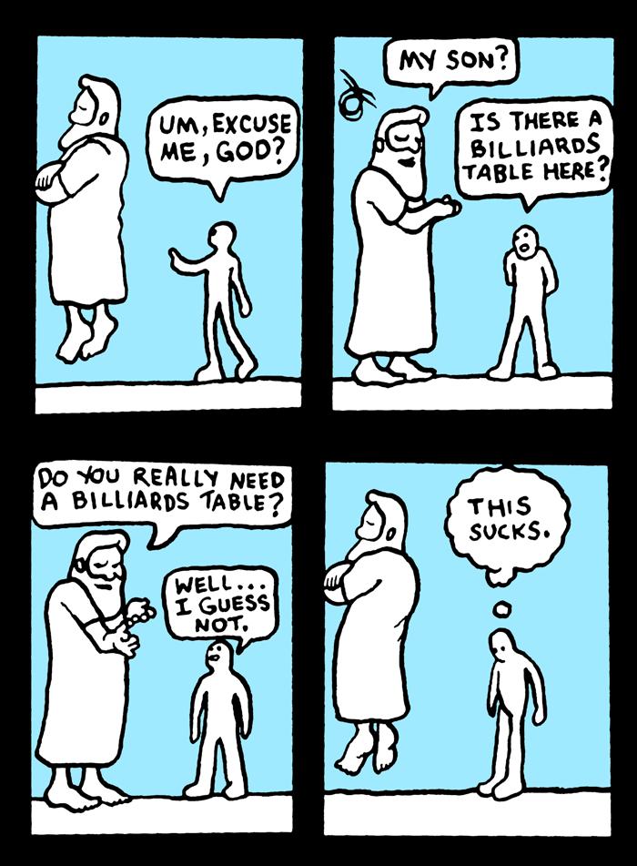 Billiards in heaven