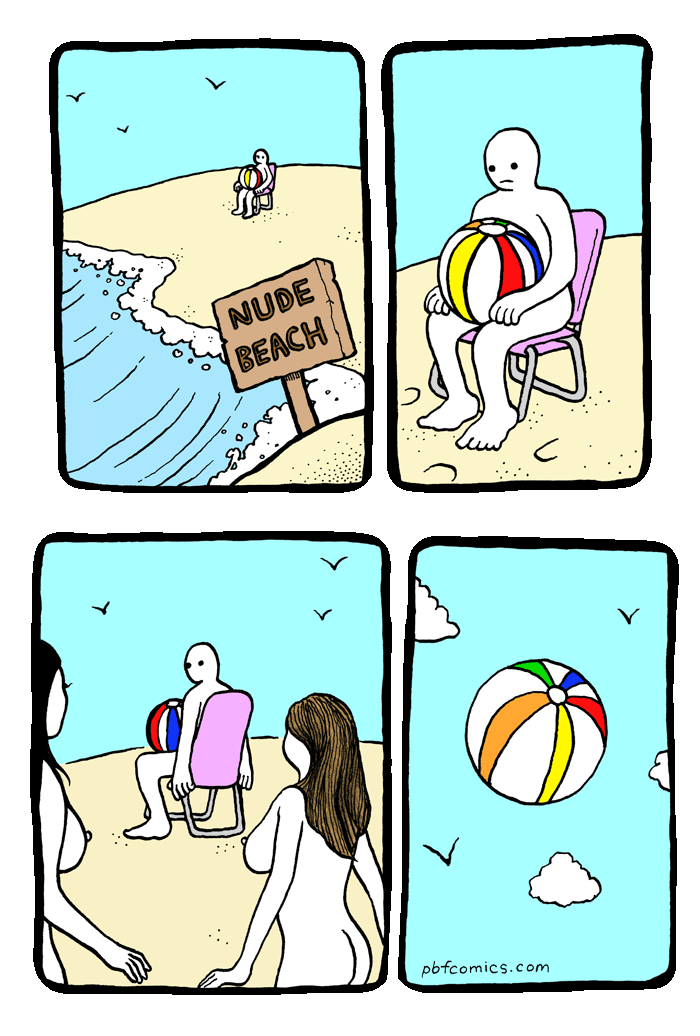 beach comic naked
