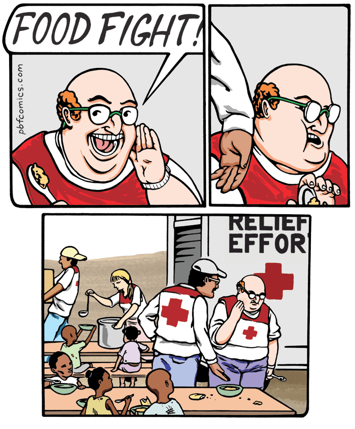 Food fight comic